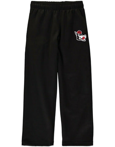 NC State Wolfpack Youth Black Slobbering Wolf Fleece Sweatpants