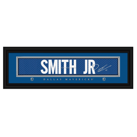 Dallas Mavericks Dennis Smith Jr. Signature Print