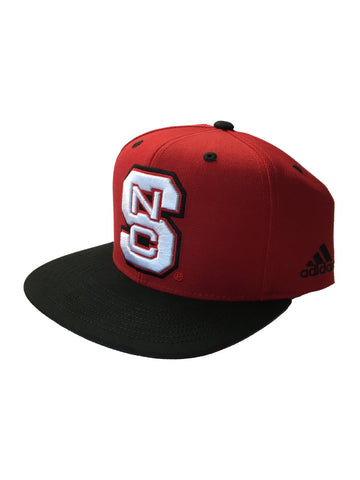NC State Wolfpack Adidas Red Block S Snapback Adjustable w/Black Bill Hat