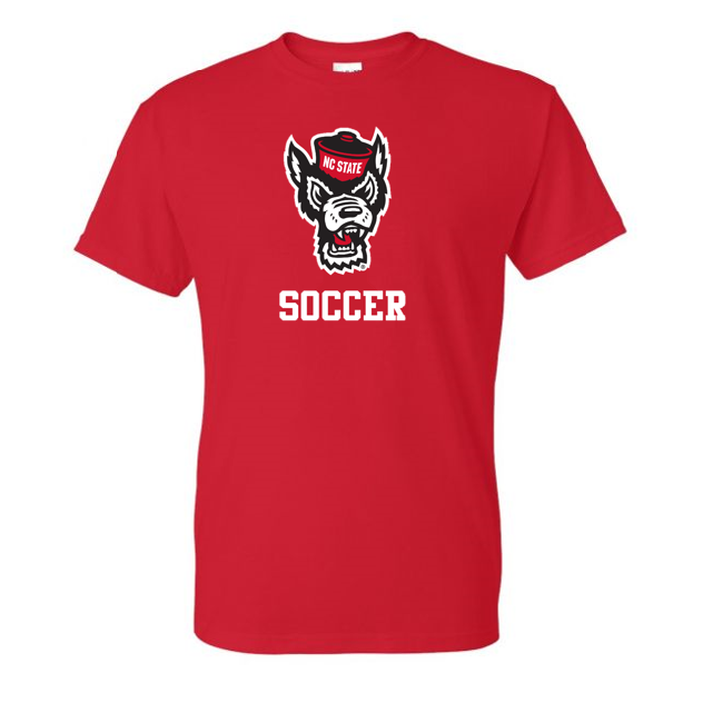 NC State Wolfpack Youth Red Wolfhead Soccer T-Shirt