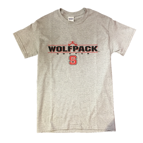 NC State Wolfpack Grey Wolfpack Soccer Youth T-Shirt