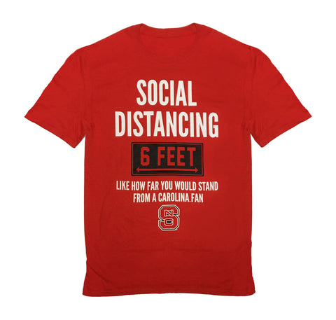 NC State Wolfpack Red Social Distancing Fan T-Shirt