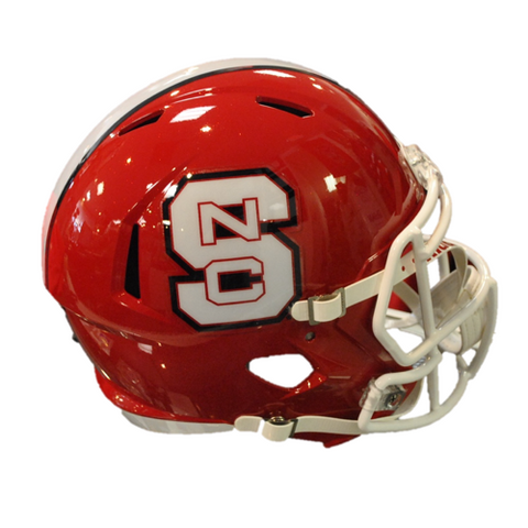 NC State Wolfpack Red Riddell Speed Mini Helmet