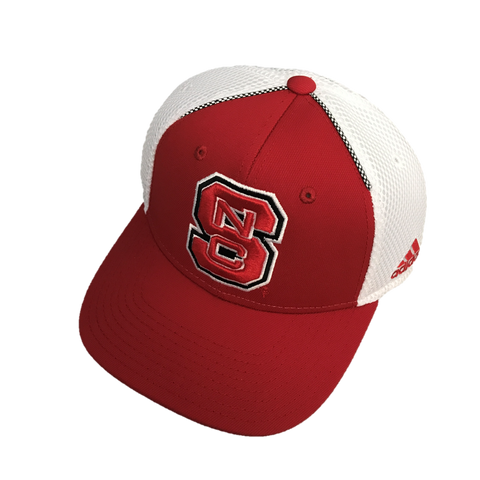 NC State Wolfpack Adidas 2017 Red Spring Game Block S Structured Adjustable Hat