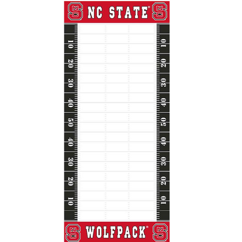 NC State Wolfpack Magnetic Football Field To Do List