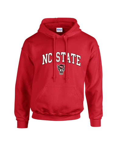 NC State Wolfpack Red Signature Wolfhead Hooded Sweatshirt