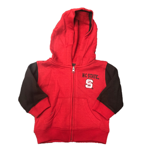 NC State Wolfpack Infant Red and Black Stadium Full Zip Hooded Jacket