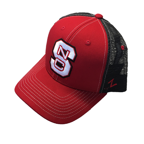 NC State Wolfpack Red Staple Trucker Hat