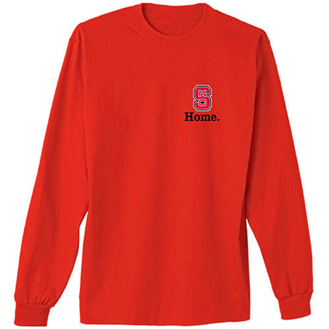 NC State Wolfpack Youth Red State of Mind L/S T-Shirt