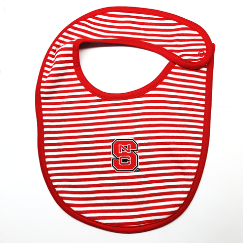 NC State Wolfpack Red and White Striped Bib