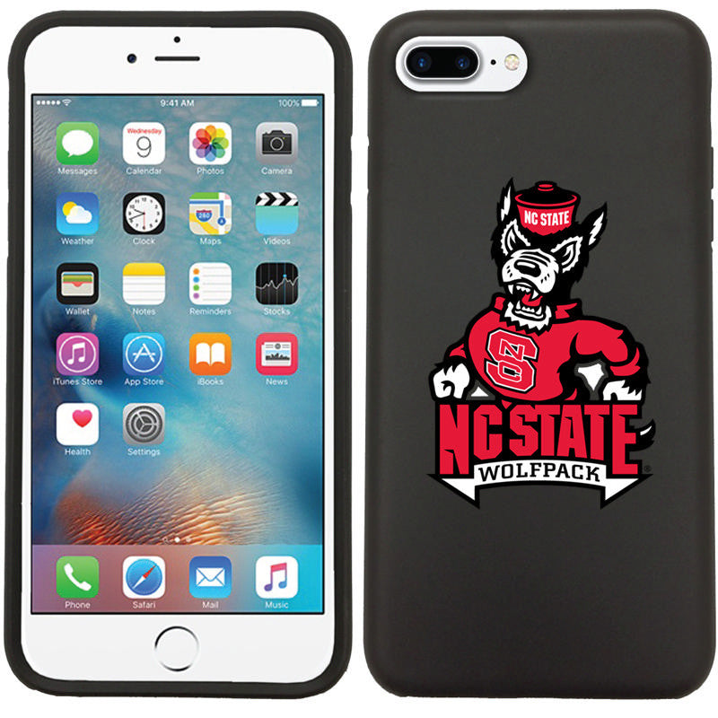 NC State Wolfpack Black Strutting Wolf iPhone 7+ Guardian Case