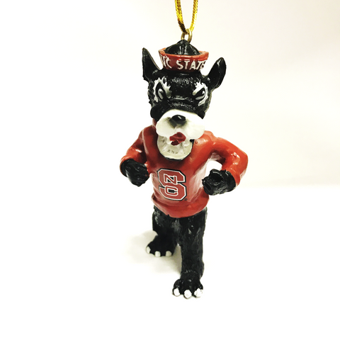 NC State Wolfpack Resin Strutting Wolf Ornament