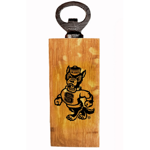 NC State Wolfpack Strutting Wolf Hickory Mini Bottle Opener