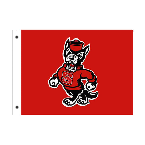 "NC State Wolfpack 28""x40"" Strutting Wolf Tailgating Flag"