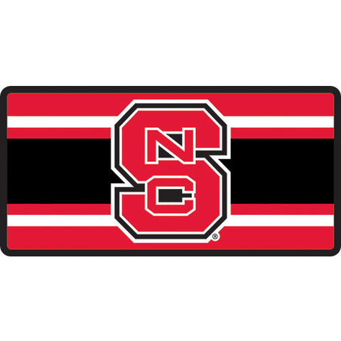 NC State Wolfpack Super Stripe Acrylic License Plate