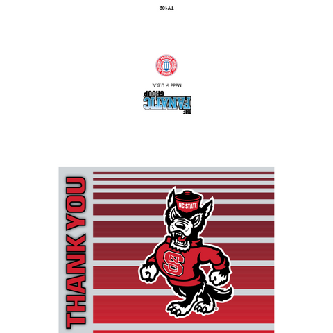 NC State Wolfpack Strutting Wolf Thank You Card Set