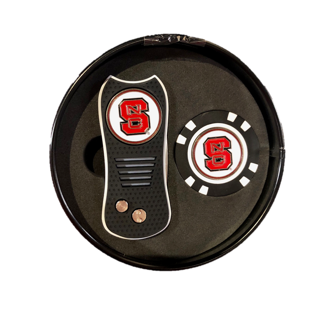 NC State Wolfpack Switchblade Ball Mark Repair Tool & Chip Ball Marker