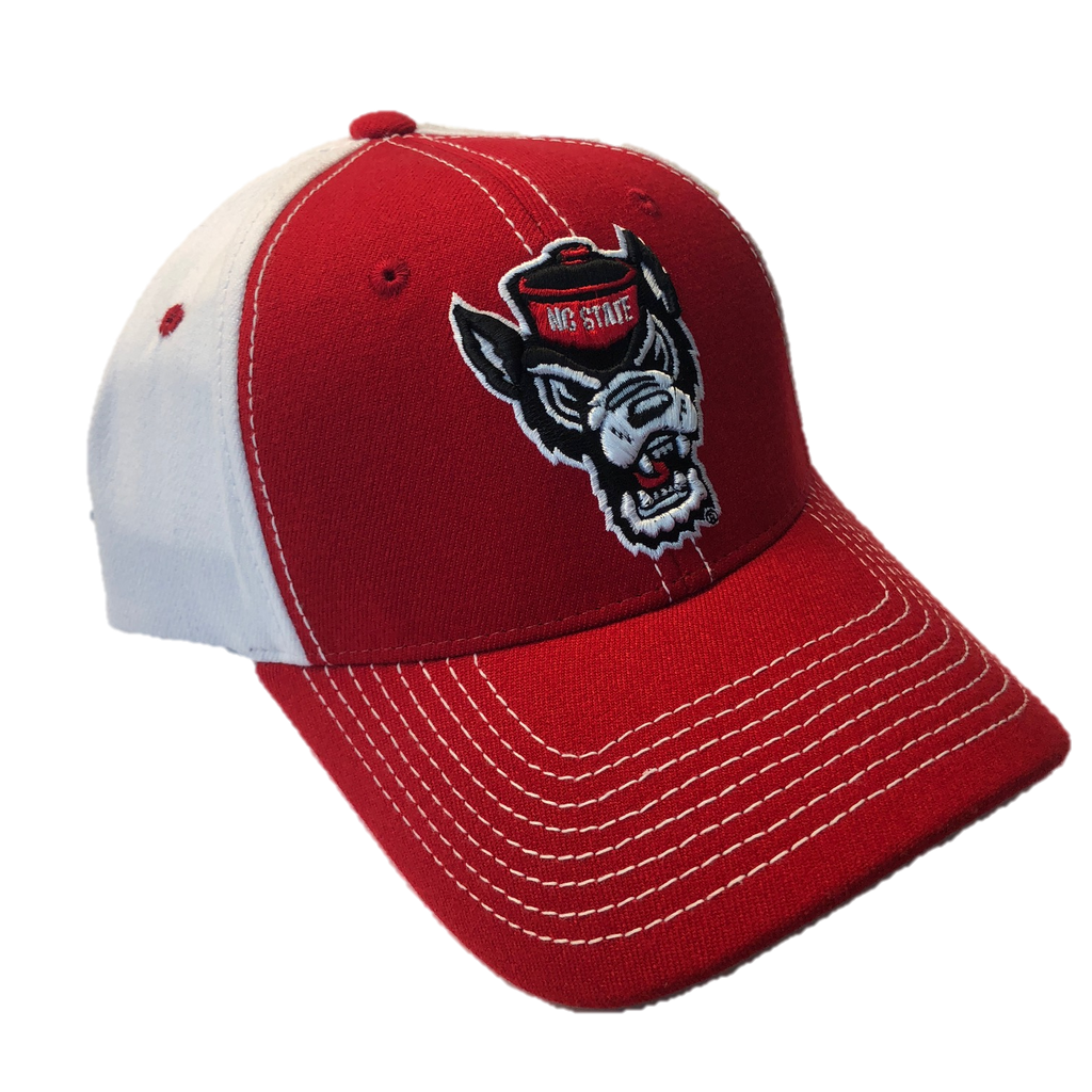 NC State Wolfpack Red and White Tandem Wolfhead Hat
