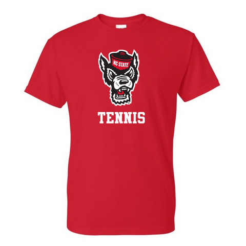 NC State Wolfpack Red Wolfhead Tennis T-Shirt