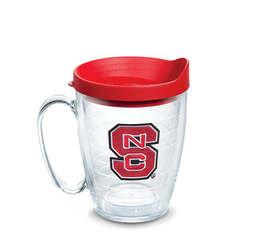 NC State Wolfpack 15oz. Block S Tervis Mug w/ Red Lid