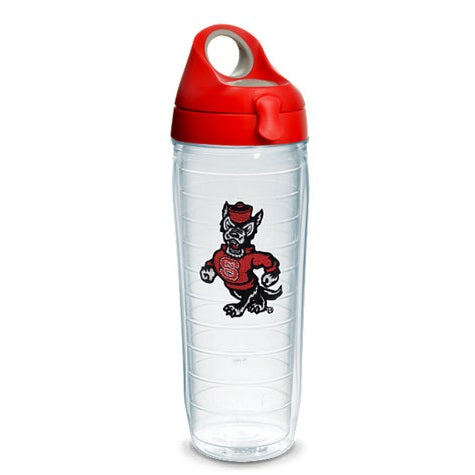 NC State Wolfpack Strutting Wolf Tervis Red 24oz Water Bottle