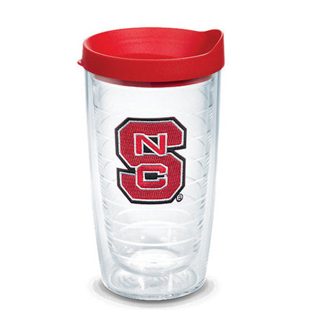 NC State Wolfpack 16oz. Block S Tervis with Red Lid