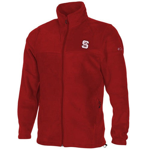 NC State Wolfpack Red Columbia® Fleece Flanker Full Zip Jacket