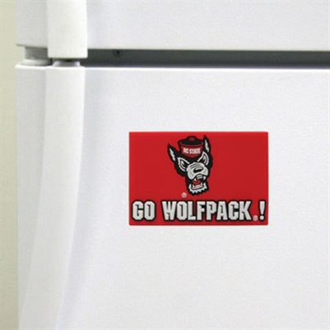 "NC State Wolfpack Red ""Go Wolfpack"" Magnet"