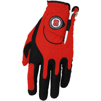 NC State Wolfpack Red Zero Friction Compression Fit Glove Glove and Ball Marker Set
