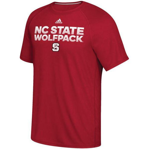 NC State Wolfpack Adidas Red Wolfpack Climalite T-Shirt
