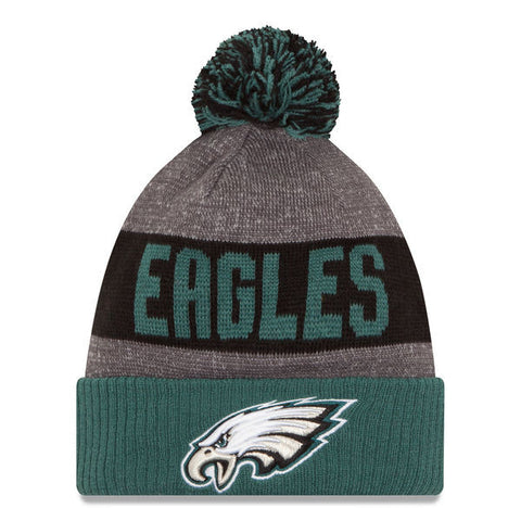 2016 Philadelphia Eagles On Field Pom Beanie
