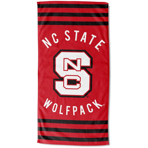 "NC State Wolfpack 30""x60"" Red Block S Beach Towel"