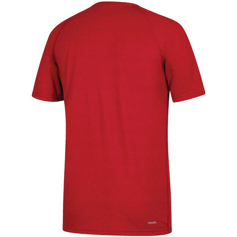 NC State Wolfpack Adidas 2018 Red Football Sideline Ultimate T-Shirt