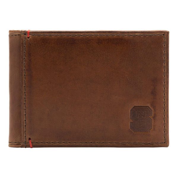 NC State Wolfpack Leather Campus Flip Bifold FP Wallet
