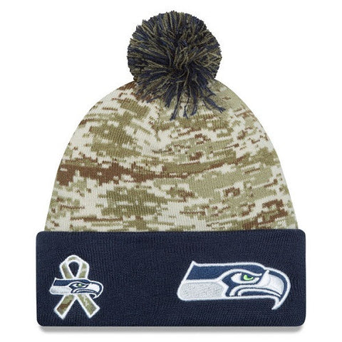 Seattle Seahawks Camo Salute To Service Knit Hat