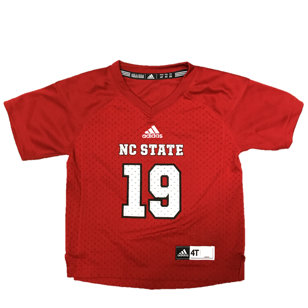 hot sales 738c5 87121 NC State Wolfpack Adidas Toddler Red #19 Football Sideline Replica Jersey