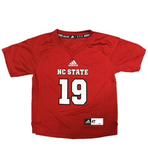 NC State Wolfpack Adidas Toddler Red #19 Football Sideline Replica Jersey