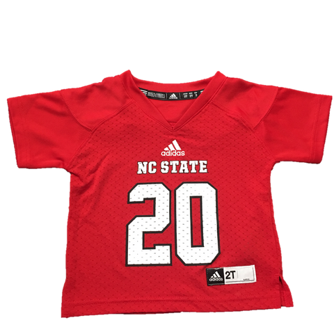 NC State Wolfpack Toddler Red #20 Replica Football Jersey