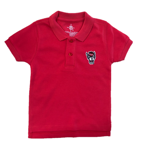 NC State Wolfpack Toddler Red Wolfhead Polo