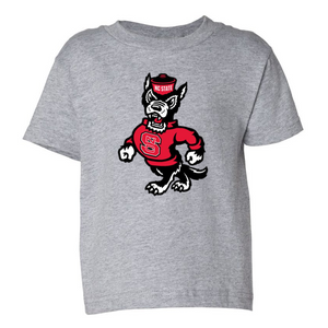 NC State Wolfpack Toddler Grey Strutting Wolf T-Shirt