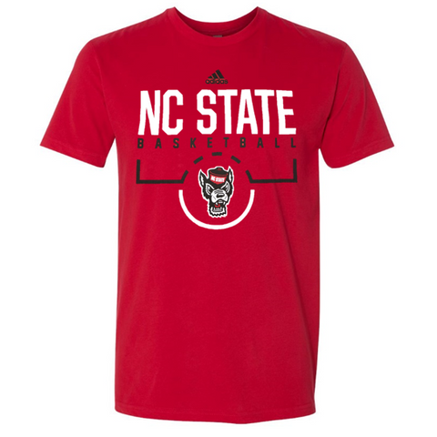 NC State Wolfpack Adidas 2018 Red On Court Basketball T-Shirt
