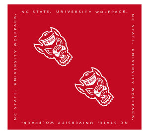 NC State Wolfpack TOW Red Wolfhead Bandana