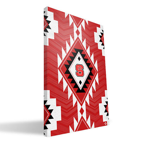NC State Wolfpack 8X12 Tribal Canvas Art