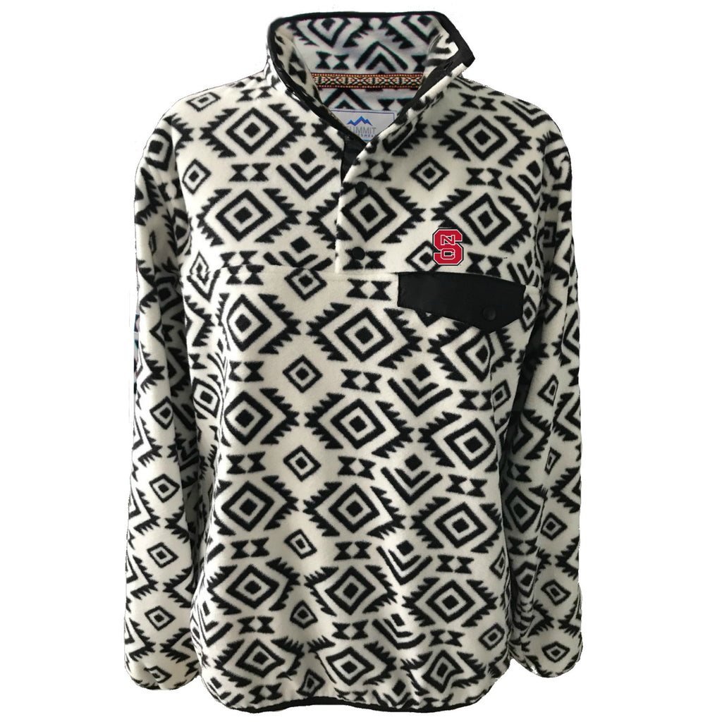 NC State Wolfpack  Black and White Tribal Patterned Fleece