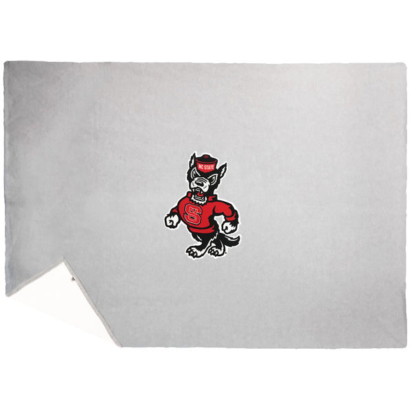 NC State Wolfpack TRT Oxford Grey Strutting Wolf Stadium Blanket