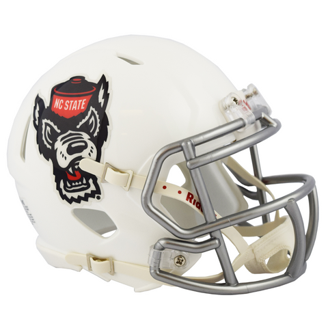 NC State Wolfpack Ice Wolf Wolfhead Replica Mini Speed Helmet