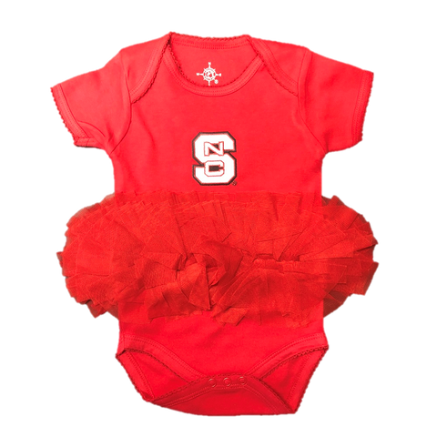 NC State Wolfpack Infant Red TuTu Onesie