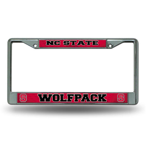 NC State Wolfpack Red Thin Metal License Plate Frame