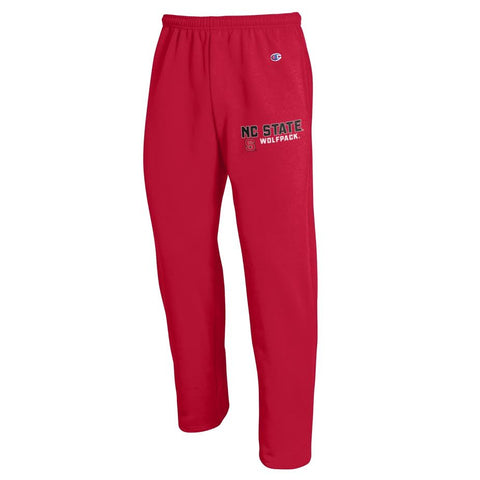 NC State Wolfpack Champion Red Open Bottom Sweatpants