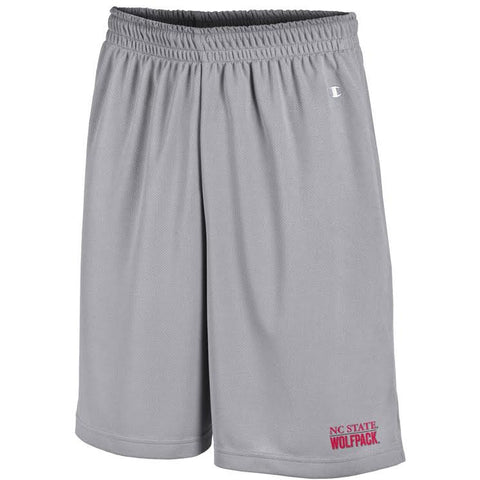 NC State Wolfpack Champion Men's Active Grey Mesh Shorts